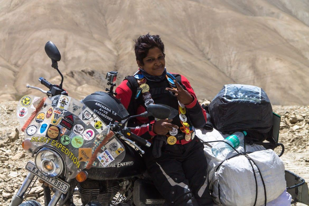 Inspiration! She cannot listen properly, but she has set a journey of 8,300 km from the bike.