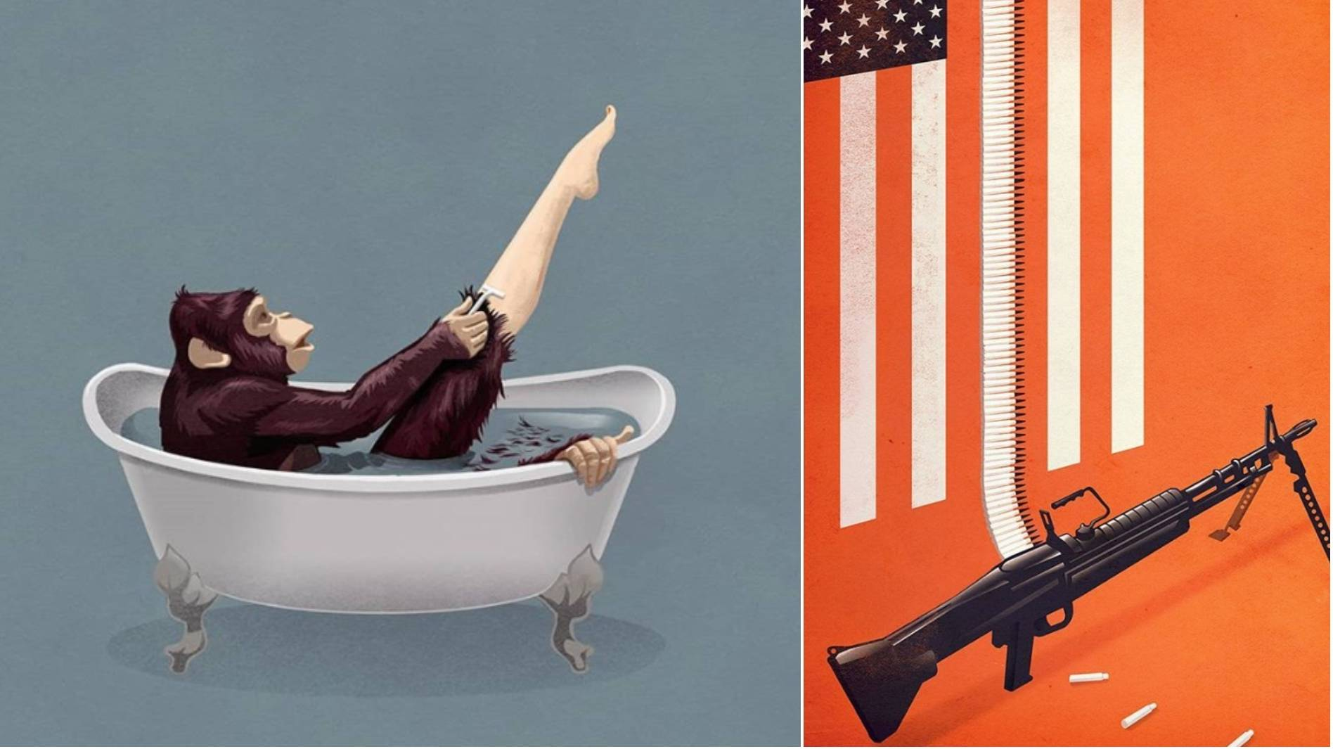 These illustrations show things in the world as they are