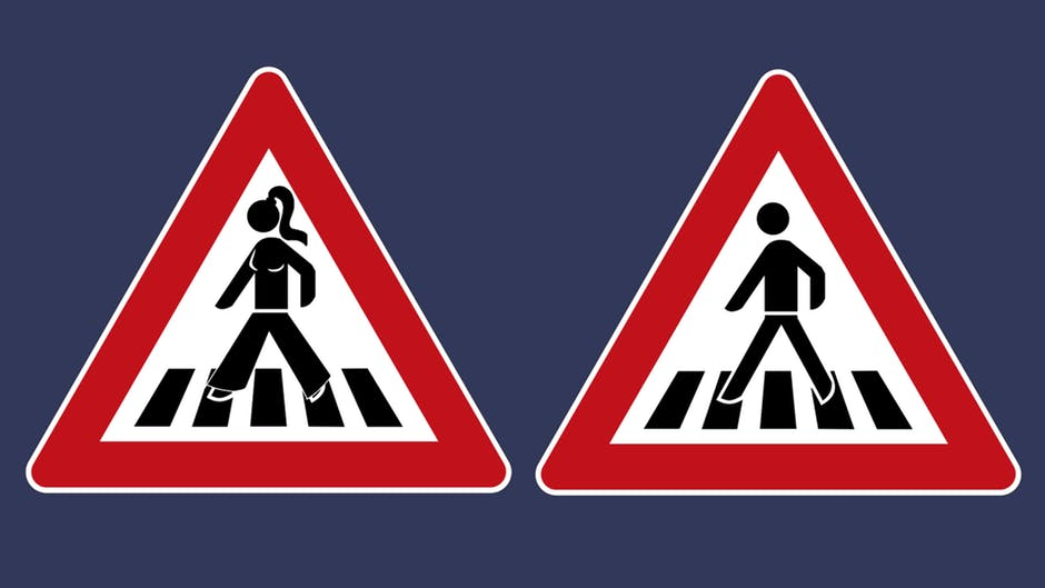 Why are not women signs on traffic signs?