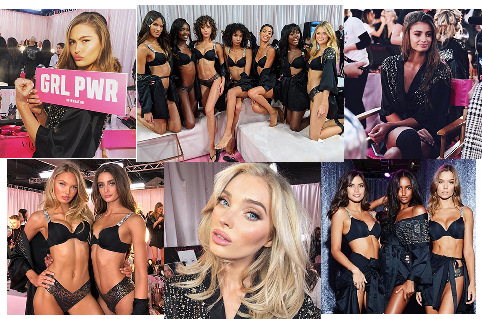 The Victoria's Secret 2018 show seen on the Instagram of tops