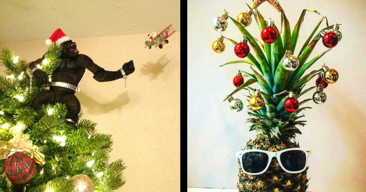 10 Christmas trees so funny that they will make everyone smile