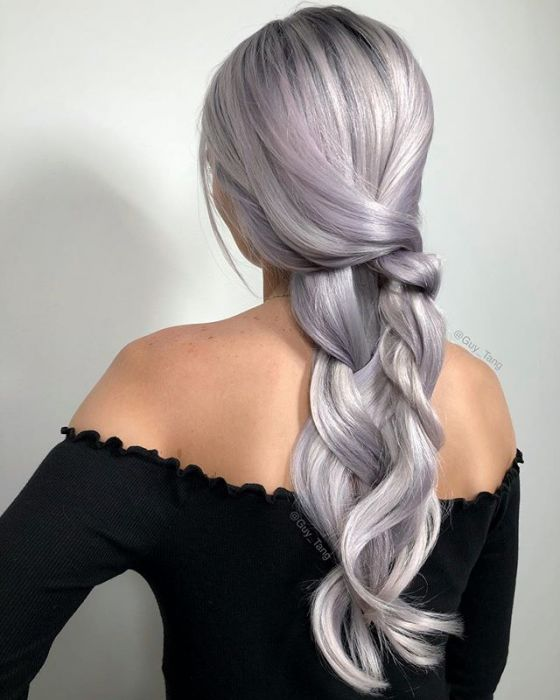 Trends 2019: Lavender-Gray Hair, or fashionable hair dyeing, which is Instagram's hit!