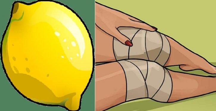 A powerful lemon remedy to treat knee pain