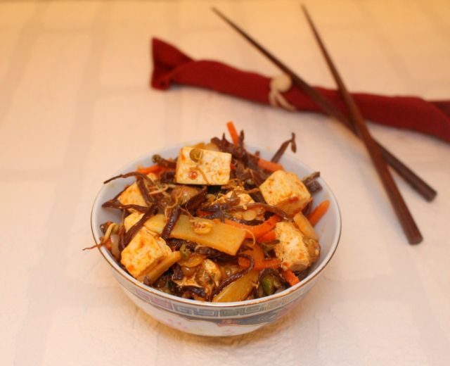 Spicy tofu with vegetables