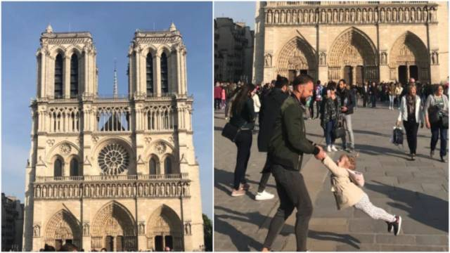 Notre-Dame: Taken just before the fire, the picture of a father and his daughter becomes viral