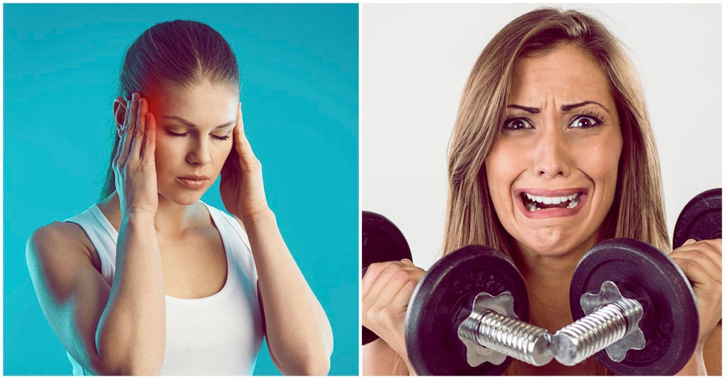 What to do if your head hurts after exercising