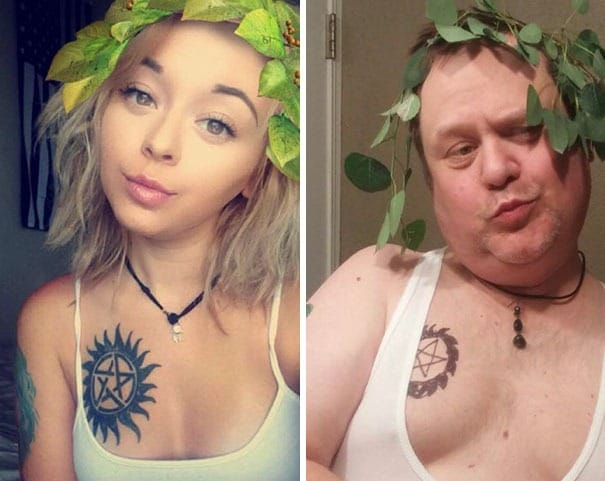 A father trolls his daughter's selfies