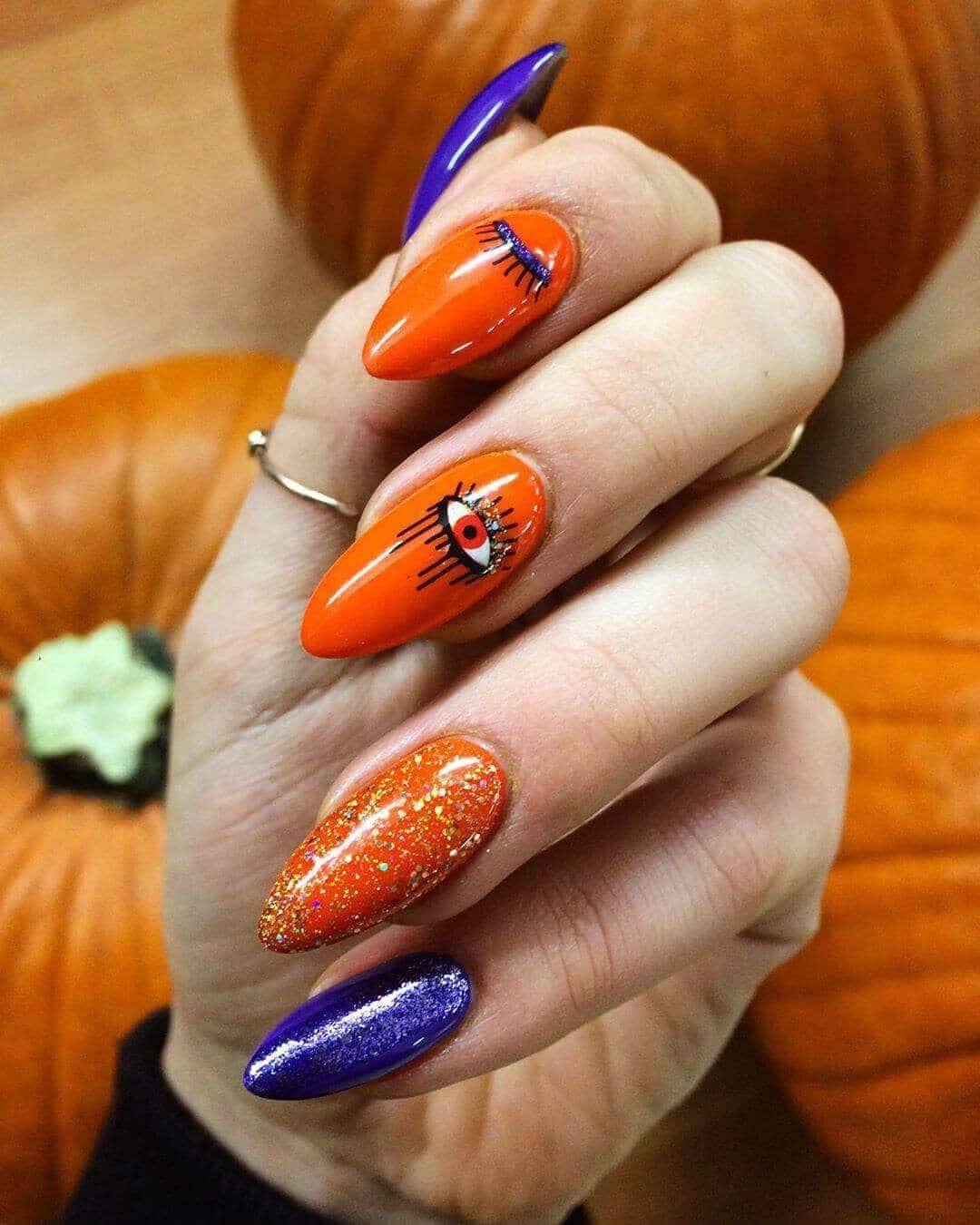 nail designs orange
