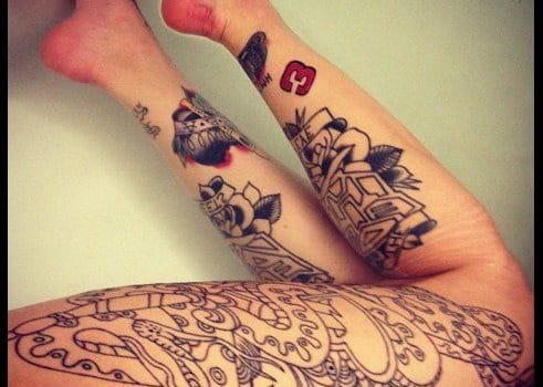 tattoos for women on leg